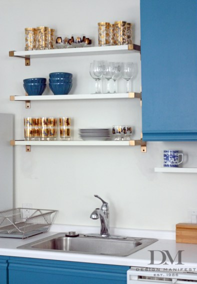 Ikea Ekby Shelves Spray Painted Copper Brackets Always A Way To Customize Open Shelving-Design Manifest