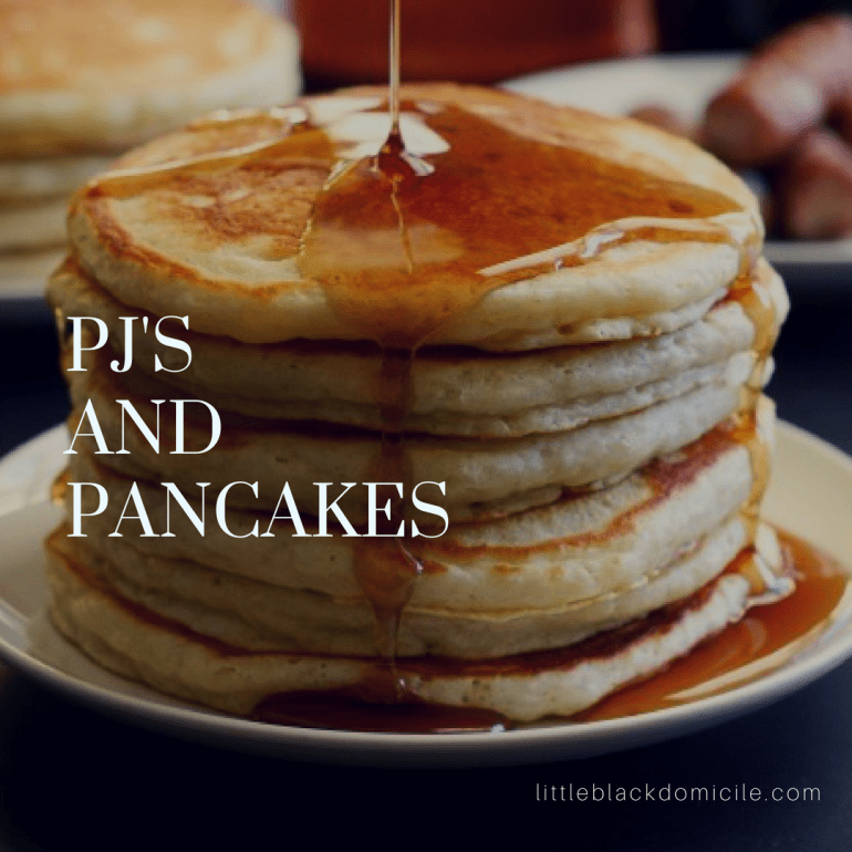 via graceandgoodeats pancake stack with dripping syrup