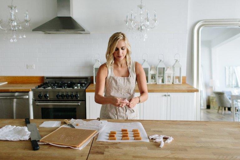 Sweet Melissa Desserts Working On A Batch Of Her Homemade Caramels for littleblackdomicile.com- Talk About Motivation!