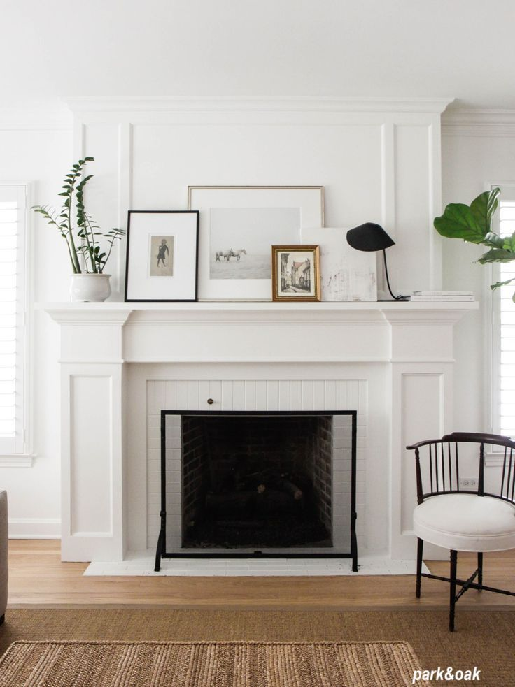 Mantle Styling @park&oak Small Display of Framed Art - A Mini Gallery Wall!