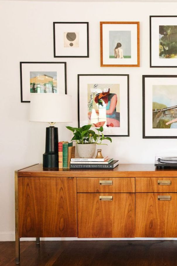 @newdarlings.com gallery wall with color