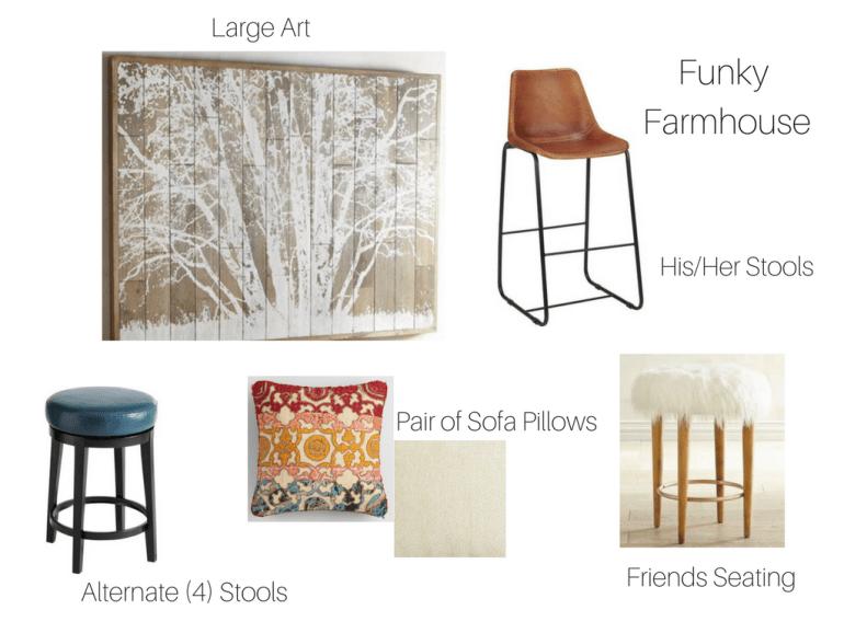 littleblackdomicile E design interior design sample board Funky Farmhouse