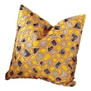 Mosaic+100+Cotton+Throw+Pillow