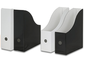 Black and White Magazine Holders