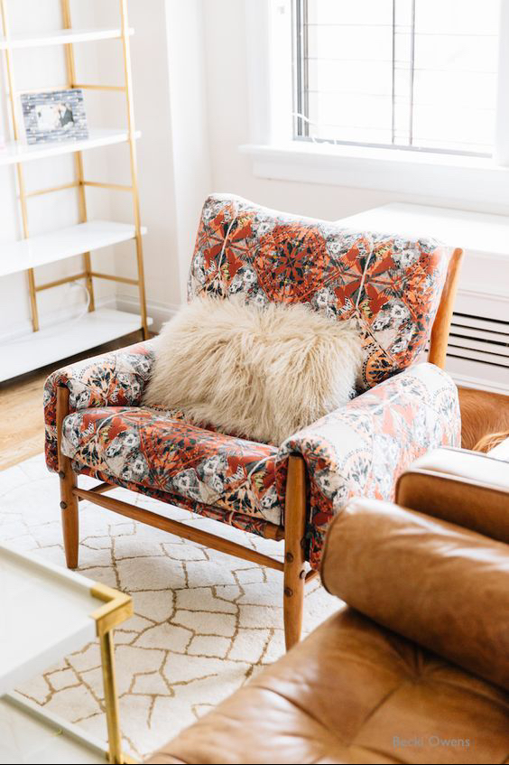 Becki Owens - Toss That Throw Over A Chair For The Decor and Then Curl Up On The Sofa With It Later