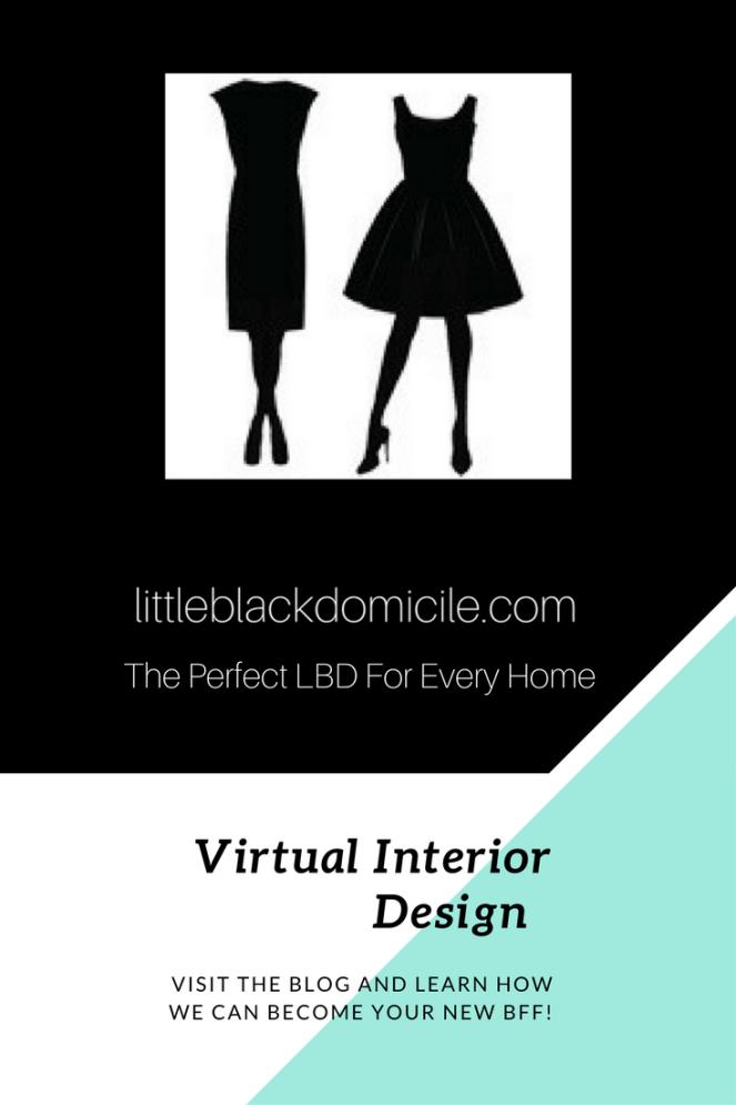 littleblackdomicile virtual interior design- the perfect LBD for every home