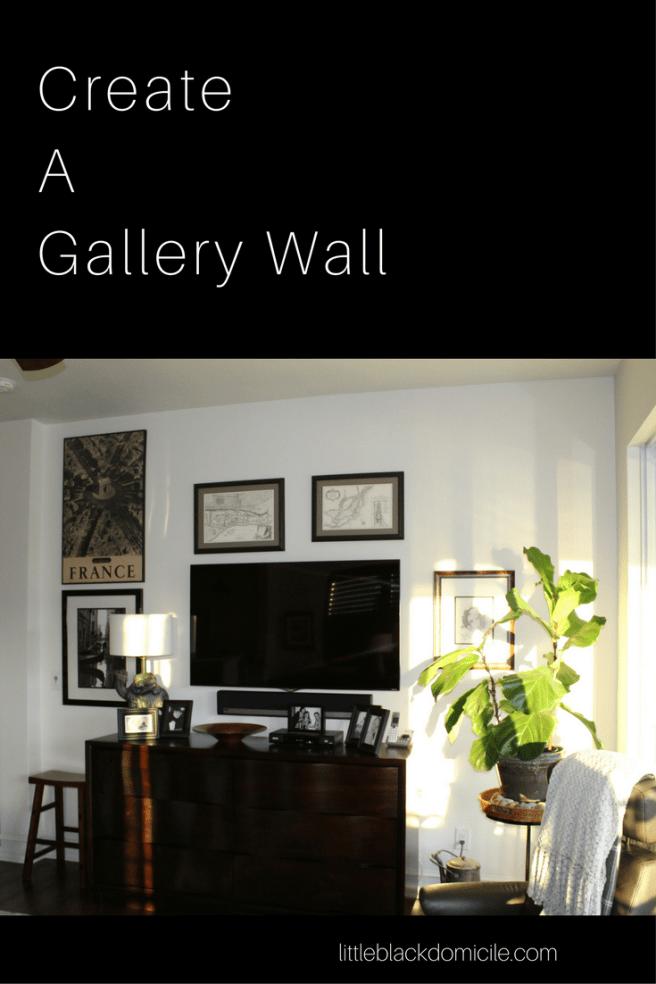 Create A Gallery Wall - littleblackdomicile