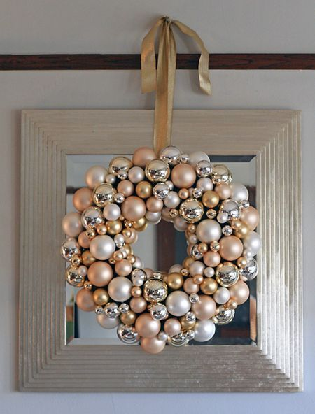 Silver Bells Traditional Christmas Decorations Wreath