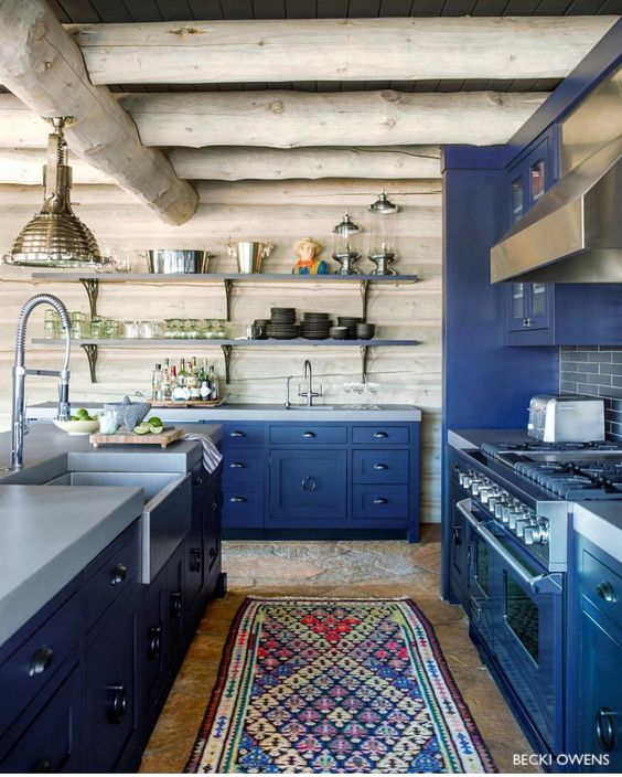 becki owens navy blue kitchen