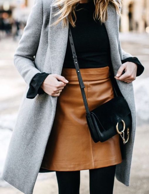 shop style camel and black