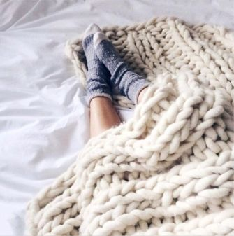 Pinterest Chunky Cable Knit Throw