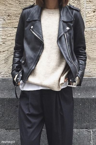 pinterest black leather bomber jacket