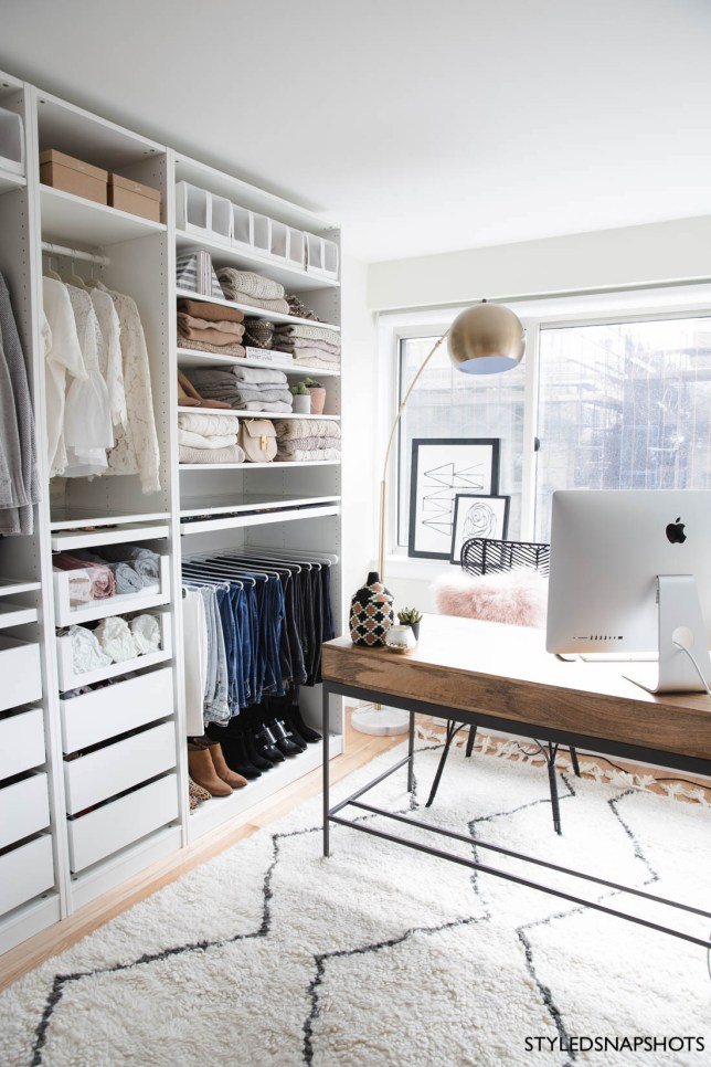 Styled Snapshots Office Closet