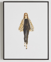 Anthropologie Leopard And Black Wall Art