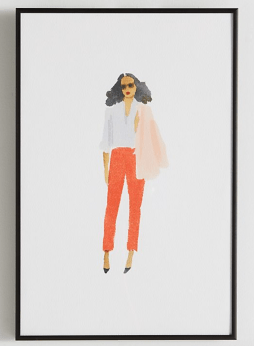 Anthropologie Pink Jacket Wall Art