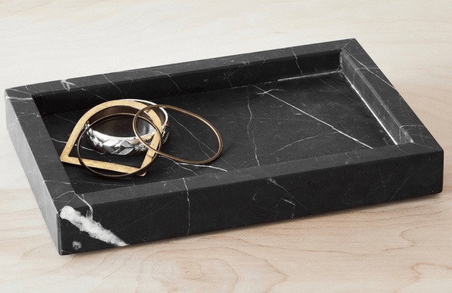 The Citizenry Black Marble Tray