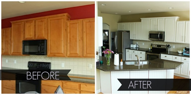 desjar interiors paint-kitchen-cabinets-before-and-after-makeover