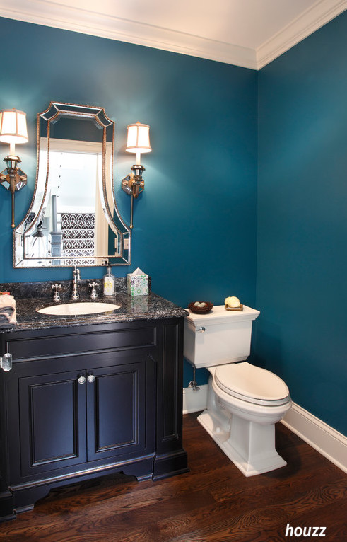 houzz turquoise bathroom walls