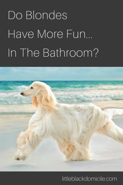 Do Blondes Have More Fun...In The Bathroom? littleblackdomicile