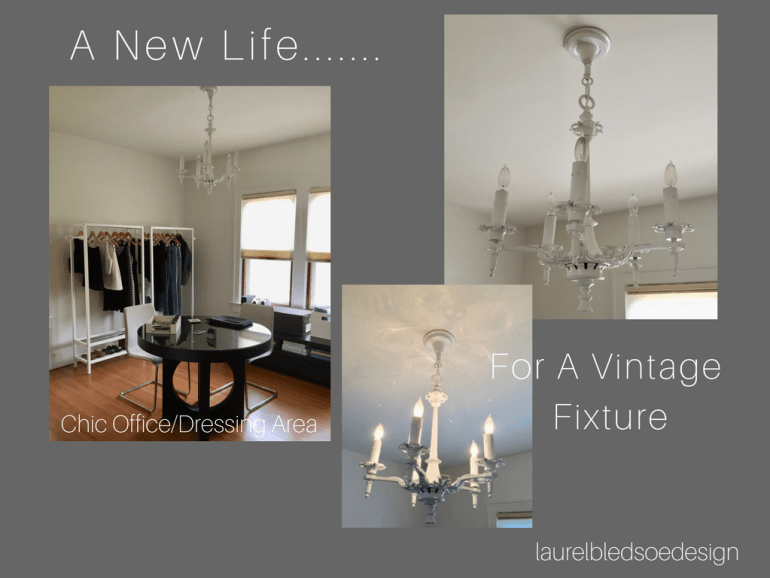 laurelbledsoedesign new life for a vintage fixture