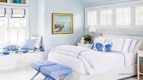 coastal living with and periwinkle bedroom