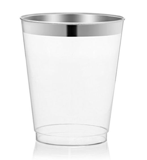 Plastic Silver Rim Julep Cup