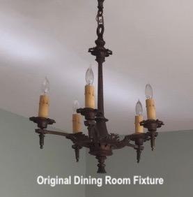 littleblackdomicile vintage chandelier- before photo