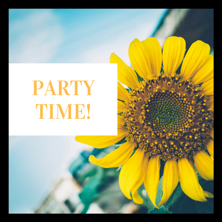 Party Time Sunflower Littleblackdomicile