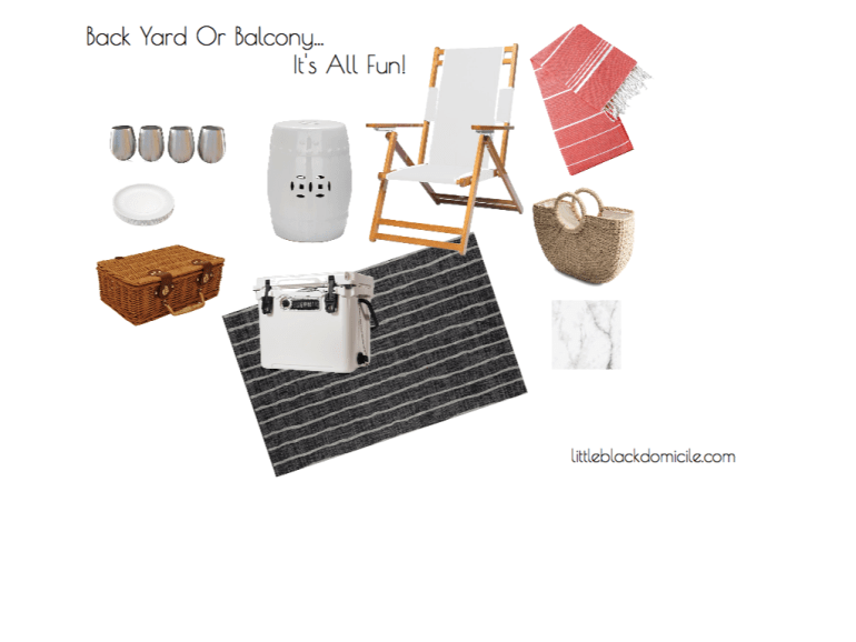 littleblackdomicile - back yard or balcony - virtual design concept board