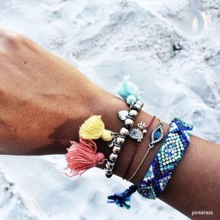 pinterest - colorful tasseled bracelets