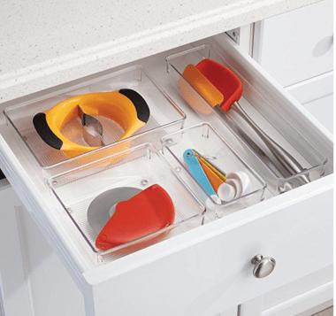 inter design clear drawer storage organizers