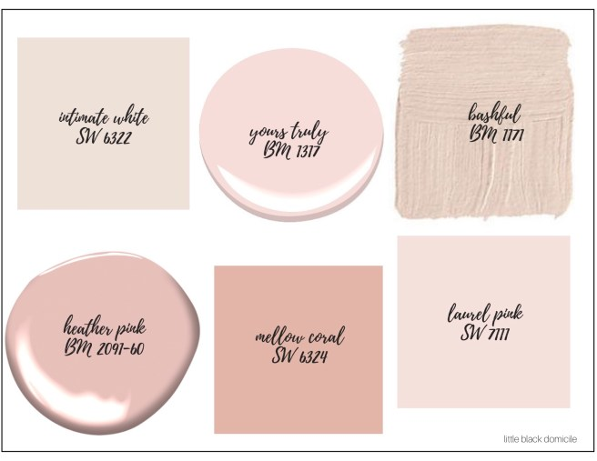 littleblackdomicile- blush paint colors