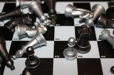 black and white checker board