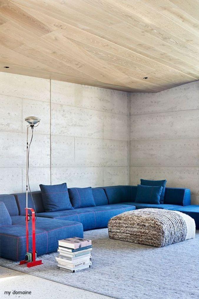 mydomaine-blue-denim-sectional-red-floor-lamp-stuffed-ottoman