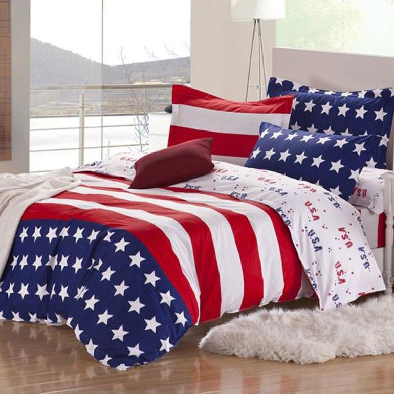 stars and stripes bedding-red-white-blue-comforter
