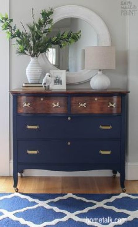 hometalk.com navy painted dresser