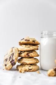 kj&company chocolate chip cookies and milk