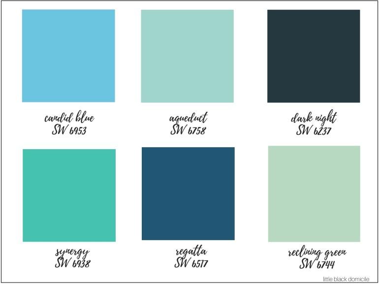Blue-Green-Paint-Color-Board-Little-Black-Domicile