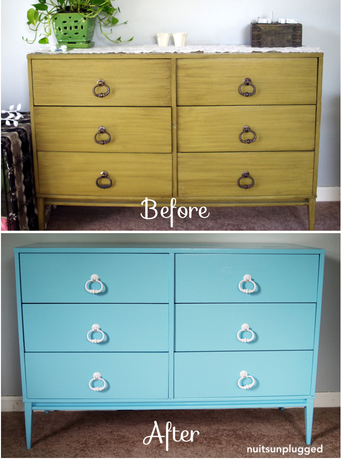 nuitsunplugged-before-after-blue-painted-dresser