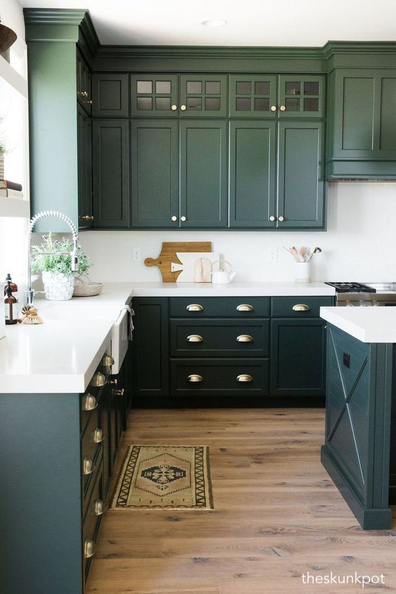 theshunkpot-green-kitchen-cabinets
