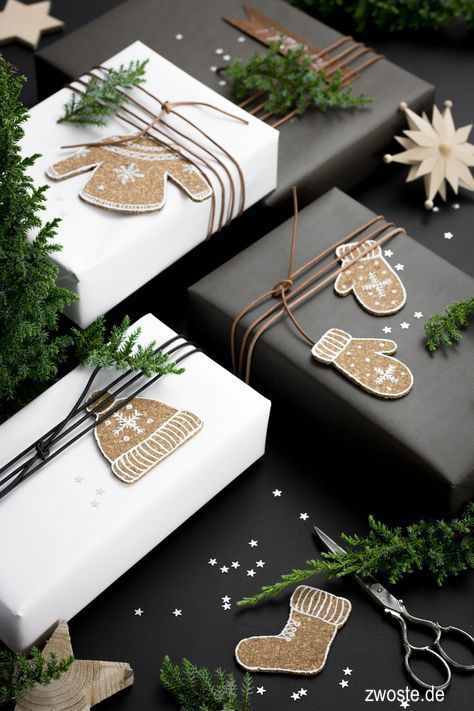 zwoste.de-black-white-christmas-gift-wrap