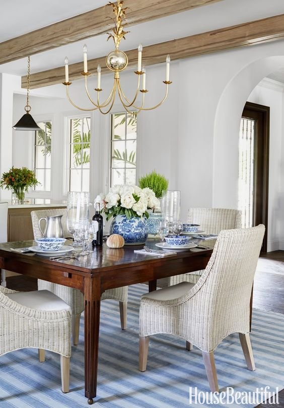 house beautiful-dining-room-coastal-decor-new-traditional-style