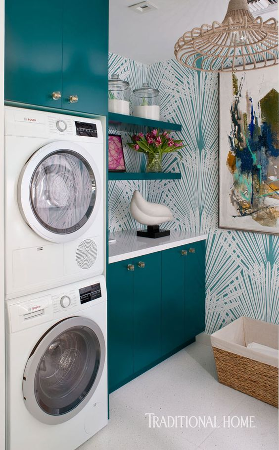 traditional-home-christopher-kennedy-laundry-modern-art