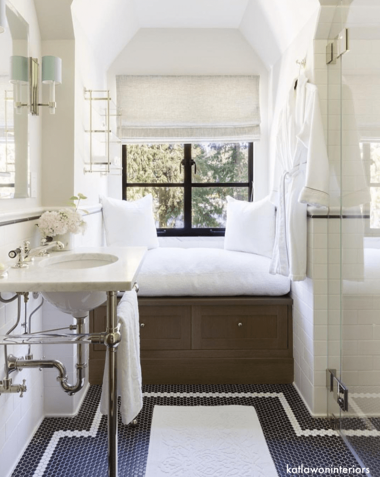 katlawoninteriors-bathroom-windowseat-octogan-tile-flooring-littleblackdomicile