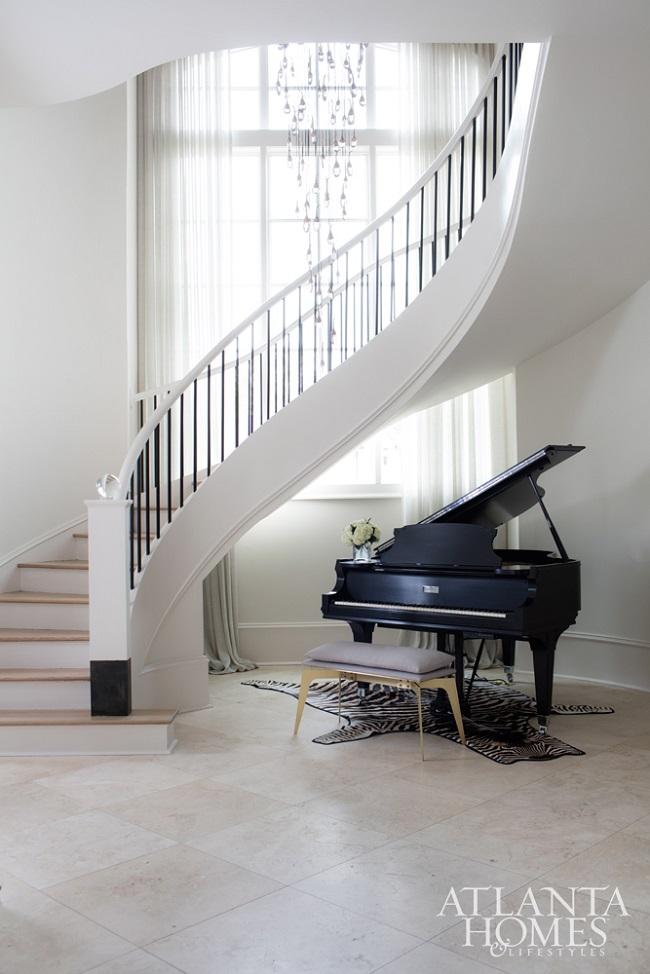Sarah Dorio-atlanta homes- staircase-piano-decor