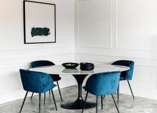 mydomaine-blue-dining-chairs-white-walls