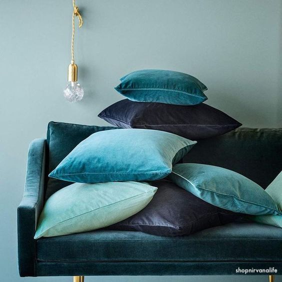 shopnirvanalife-blue-green-velvey-pillows