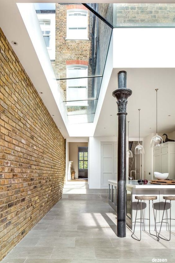 dozen-londonhomes-uniquekitchens-brickwalls-skylights