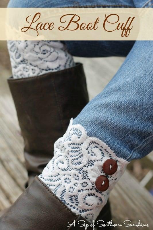 lace boot cuff