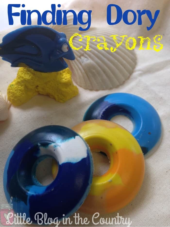 Homemade Finding Dory Crayons